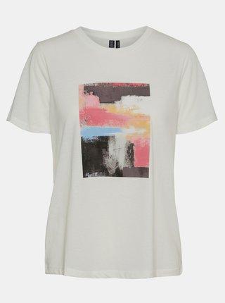 Biele tričko s potlačou VERO MODA