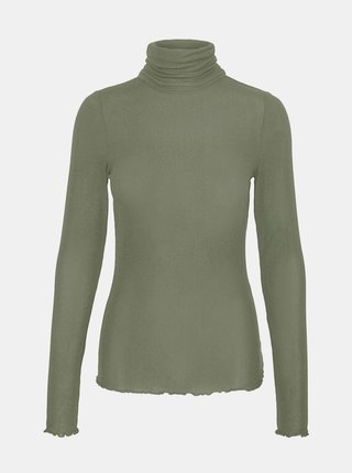 Zelené tričko s rolákom VERO MODA