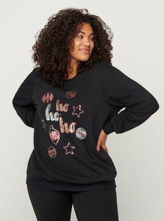 Černá mikina s vánočním motivem Zizzi