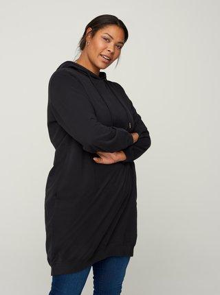 Černé mikinové šaty Zizzi