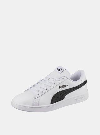 Biele pánske kožené tenisky Puma