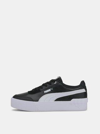 Bielo-čierne dámske tenisky na platforme Puma