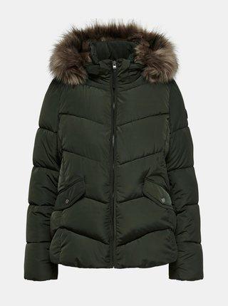 Tmavozelená zimná prešívaná bunda ONLY