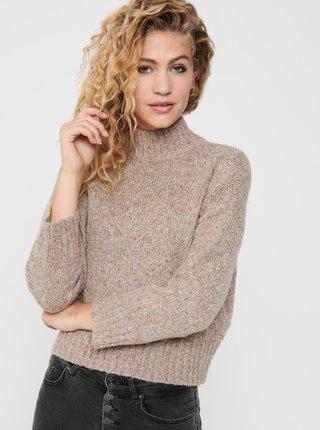 Béžový sveter so stojáčikom ONLY