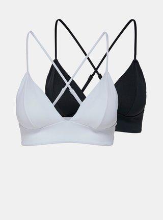 Sada dvou horních dílů plavek v bílé a černé barvě ONLY