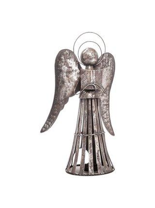 Kovový svícen Anděl s knihou