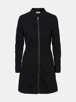 Černé džínové šaty Noisy May