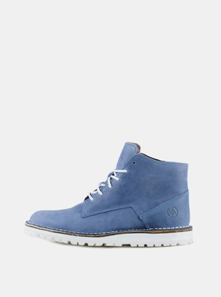 Modré kožené kotníkové boty Vasky