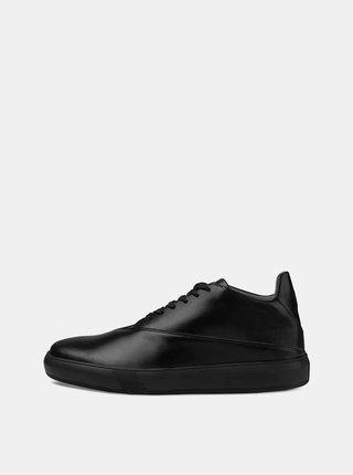 Černé kožené tenisky Vasky