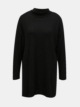 Čierny dlhý sveter so stojáčikom TALLY WEiJL