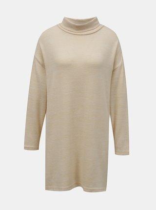 Béžový dlhý sveter so stojáčikom TALLY WEiJL
