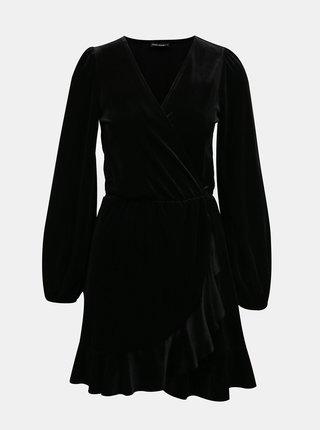 Černé sametové šaty TALLY WEiJL