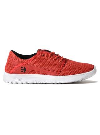 Etnies Kids Scout RED/WHITE/BLACK letní boty dětské - červená