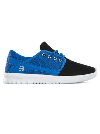 Etnies Kids Scout BLACK/BLUE/GREY letní boty dětské - modrá