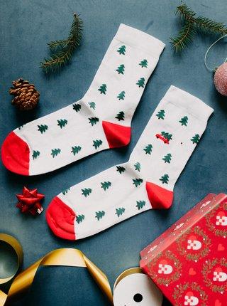Bílé vzorované ponožky ZOOT Original Stromečky