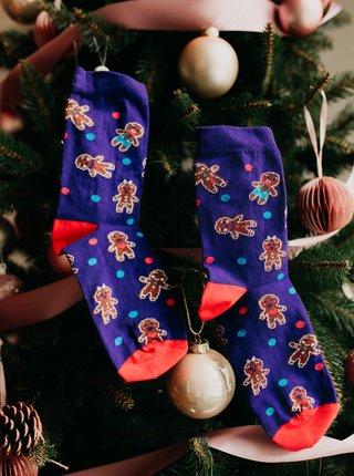 Fialové vzorované ponožky ZOOT Original Perníčky