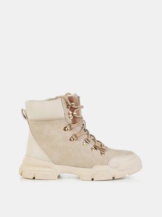 Béžové dámské kotníkové boty MUSK