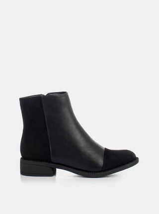Černé dámské kotníkové boty MUSK