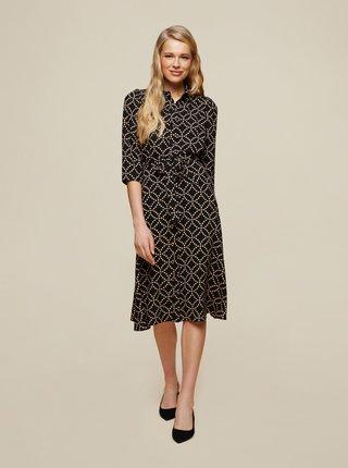 Černé vzorované košilové šaty Dorothy Perkins