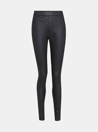 Černé koženkové skinny fit kalhoty Dorothy Perkins Tall
