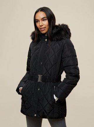 Čierna zimná prešívaná bunda Dorothy Perkins