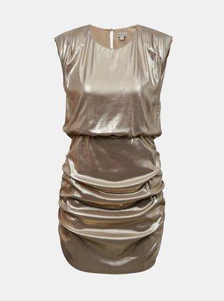 Pouzdrové lesklé šaty ve zlaté barvě Miss Selfridge
