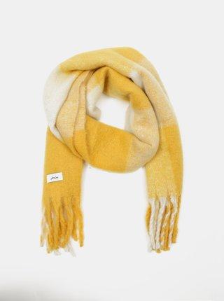 Žltý dámsky kockovaný šál Tom Joule
