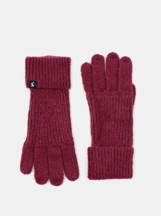 Vínové dámske rukavice Tom Joule