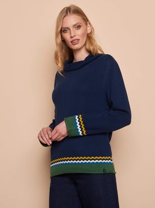 Tmavomodrý dámsky sveter Tranquillo