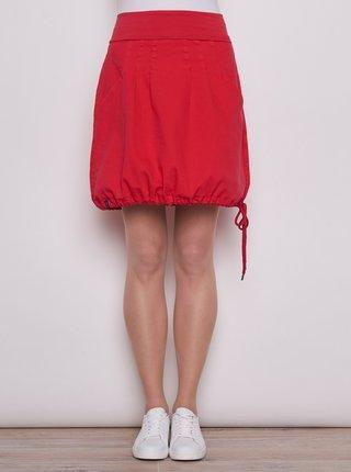 Červená balonová sukně Tranquillo