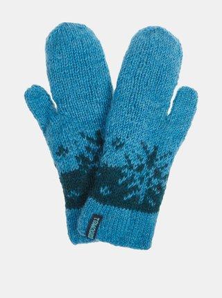 Modré dámské vlněné rukavice Tranquillo