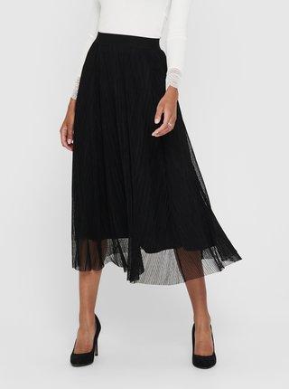 Černá tylová midi sukně ONLY Lavina