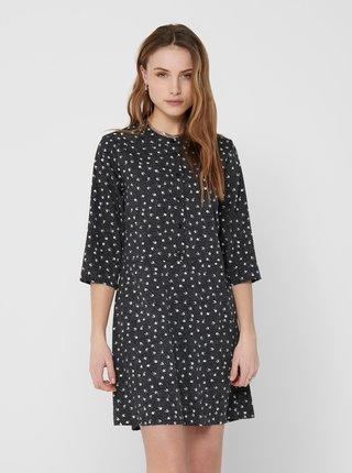 Černé vzorované šaty Jacqueline de Yong Ora