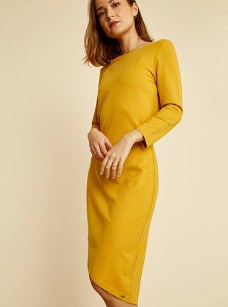 Žlté púzdrové basic šaty ZOOT Baseline Berit