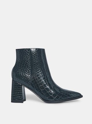Modré členkové topánky s krokodýlím vzorom Dorothy Perkins