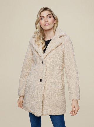 Krémový zimný kabát Dorothy Perkins