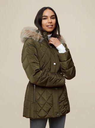 Kaki zimná prešívaná bunda Dorothy Perkins