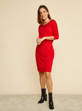 Červené basic šaty so zaväzovaním ZOOT Baseline Darina