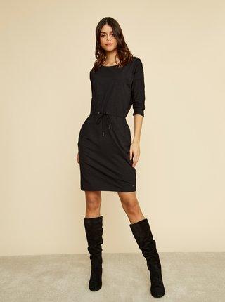 Čierne basic šaty so zaväzovaním ZOOT Baseline Darina