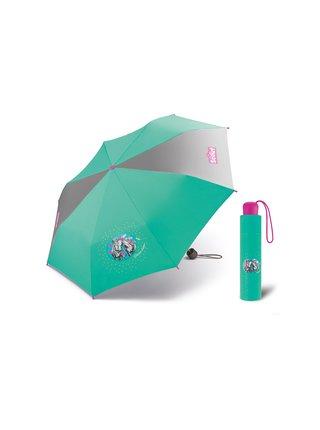 Scout SUMMER GREEN dětský skládací deštník s koněm - Zelená