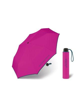 United Colors of Benetton Super Mini Fuxia - růžový deštník s modrým lemem - Růžová