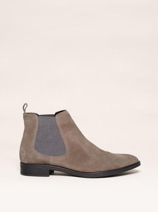 Béžové dámske semišové chelsea topánky Brakeburn