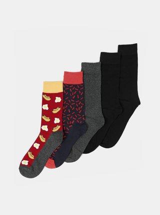 Sada pěti párů ponožek Jack & Jones
