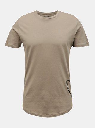 Béžové tričko s nápisem Jack & Jones