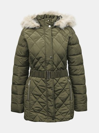 Kaki zimná prešívaná bunda Dorothy Perkins Tall
