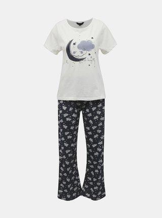 Modré vzorované pyžamo Dorothy Perkins