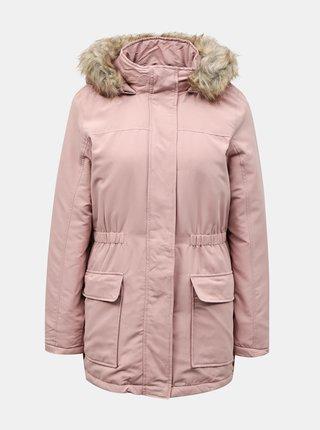 Růžová zimní parka Jacqueline de Yong