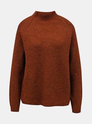 Hnedý voľný sveter ONLY