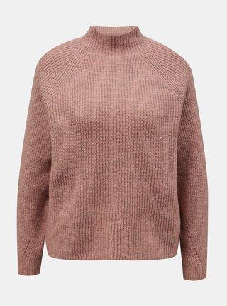 Ružový voľný sveter ONLY