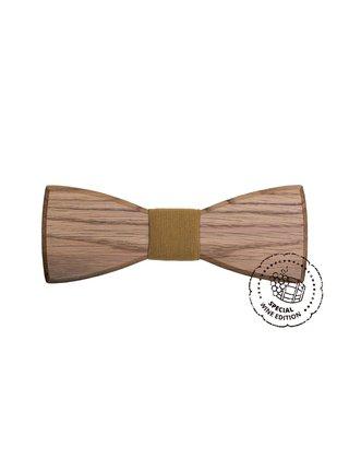 Dřevěný motýlek White Wine Bow Tie, pánský BeWooden